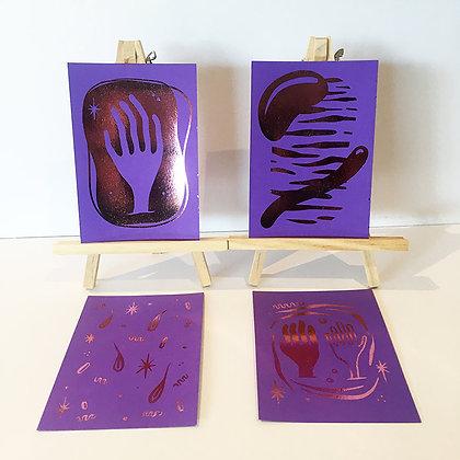 'Magic Hello' Shiny mini print set