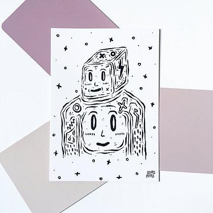 'Hi Friend' Postcard