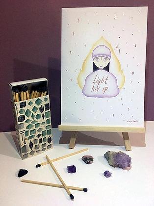 'Light Her Up' A5 Print