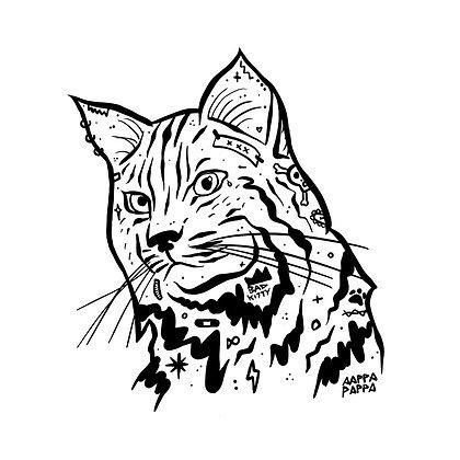 'BAD CAT' Archival Print