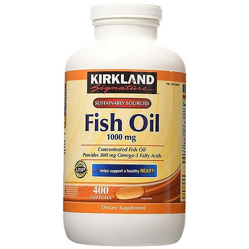 Kirkland Fish Oil, 1000 mg 400 Softgels