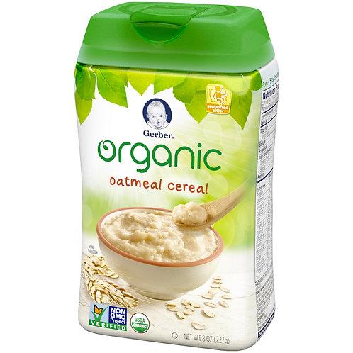 DA18 Gerber organic oatmeal cereal 8oz