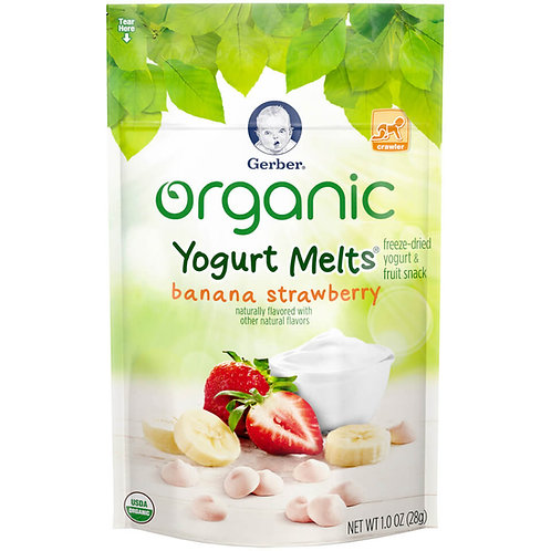 DA20 Gerber Yogurt melts banana strawberry 1oz