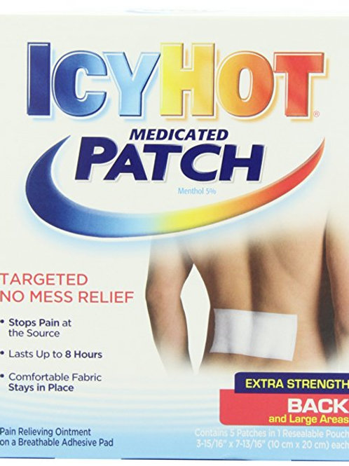 SB08 Icy Hot Extra Strength Medicated Patch, Large, 5-Count Boxes (Pack of 3)