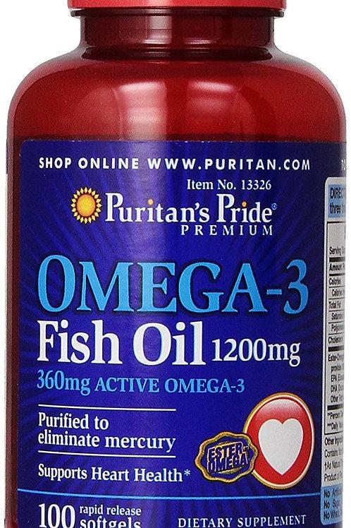 Omega-3 Fish Oil 1200mg 360mg Active Omega-3