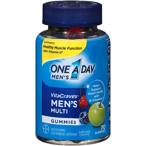 VC52 One A Day Men's Multi Gummies, 70 Tablets
