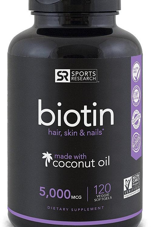 VC62 Sports Research Biotin w/coconut oil 150vien