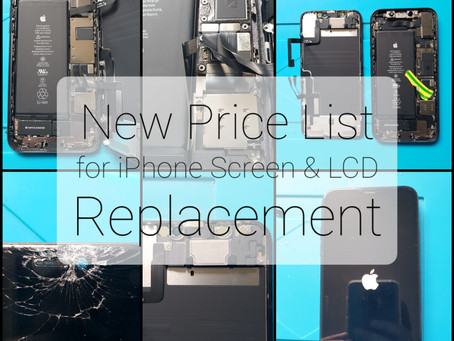 New Price List for iPhone Repairs