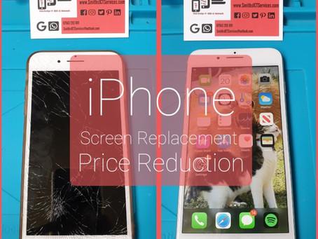 Price Reduction for iPad & iPhone screen repairs‼️