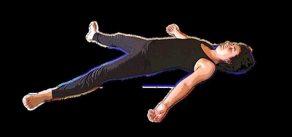 Posture yoga cadavre savasana