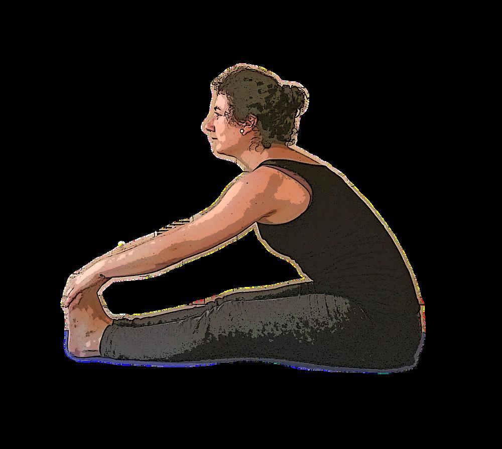 yoga posture pince assise paschimotanasana