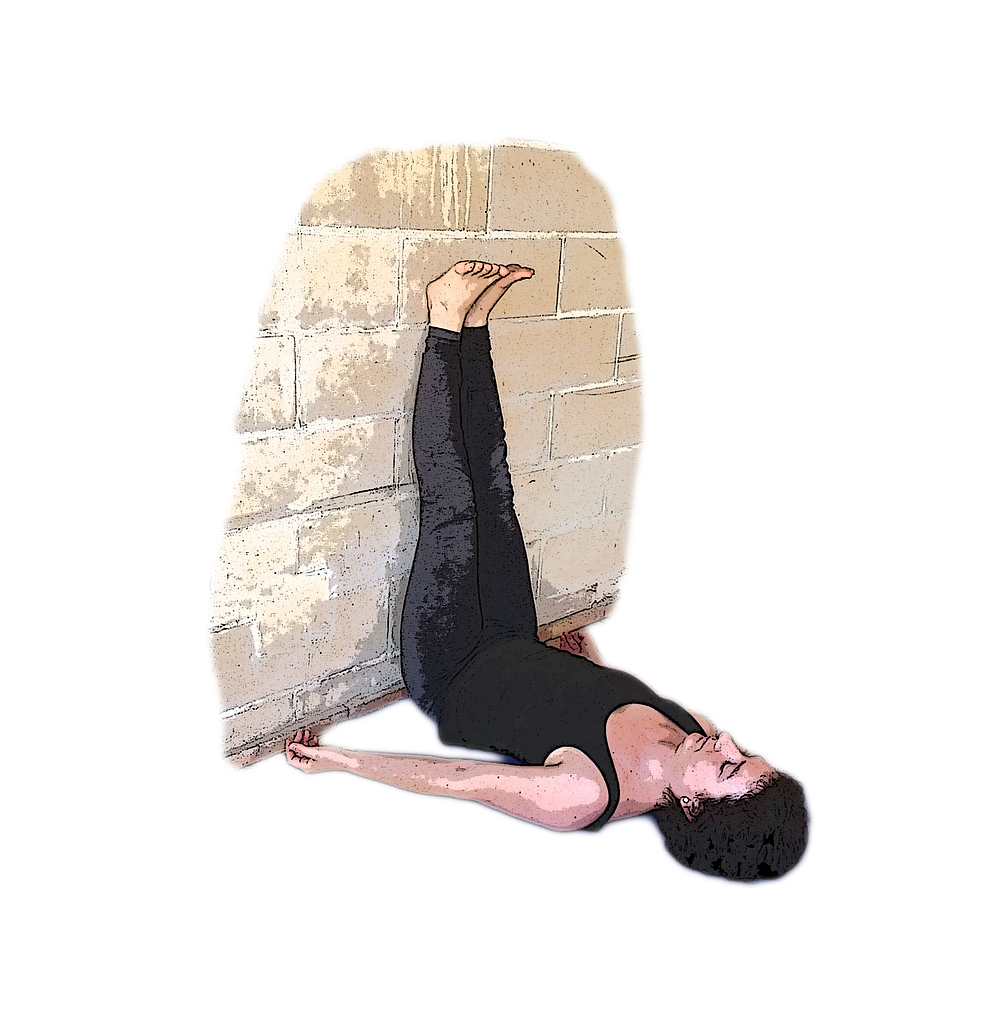 posture yoga jambes contre le mur uttanpadasana