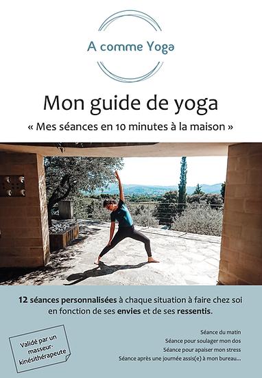 Ebook - yoga à la maison - 12 séances + 1 vidéo incluse