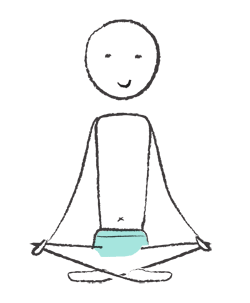 Dessin yogi assis en tailleur