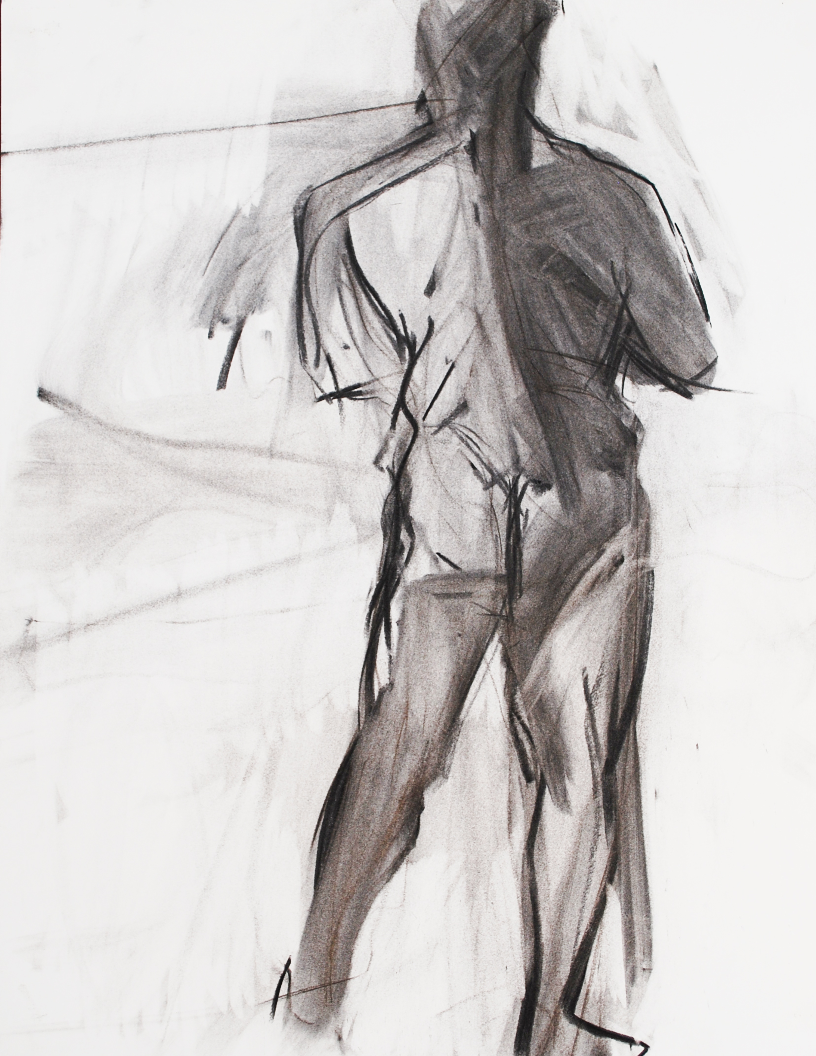 Lyles_Standing Figure Back_Charcoal on P