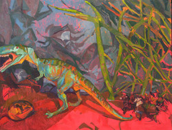 Stupid Dragon, Jerry Lyles, Oil on Canva