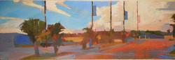 Lyles_Evening Cloud_ Oil on Panel_ 25x 8
