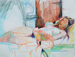 Lyles_reclining nude in crayon_Crayon_18