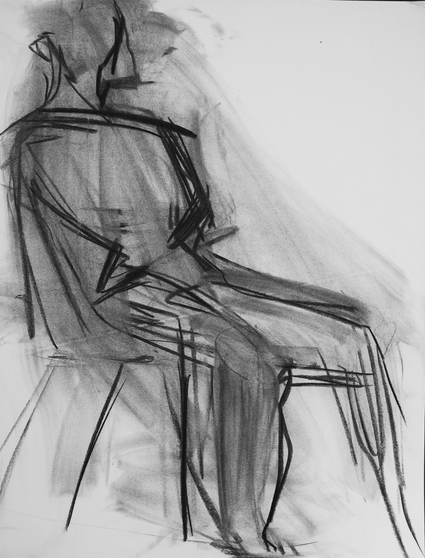 Lyles_Seated Figure_charcoal non Paper_1