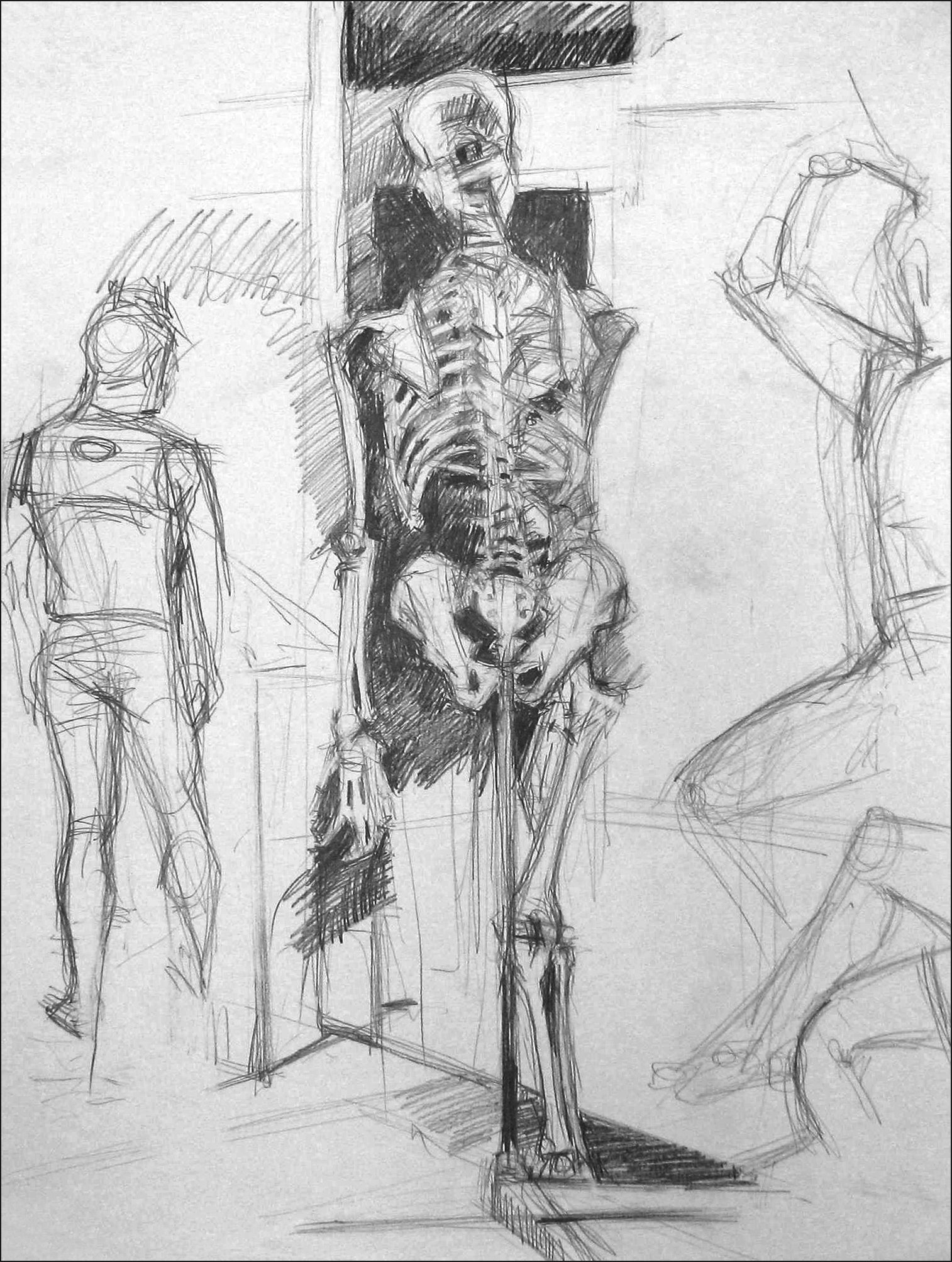 Lyles_Skelletal Study Grphite on Paper 1