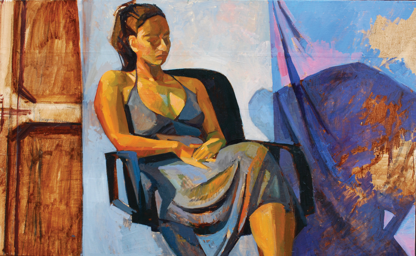 Lyles-seated mode_Oil on Paper on Panel_