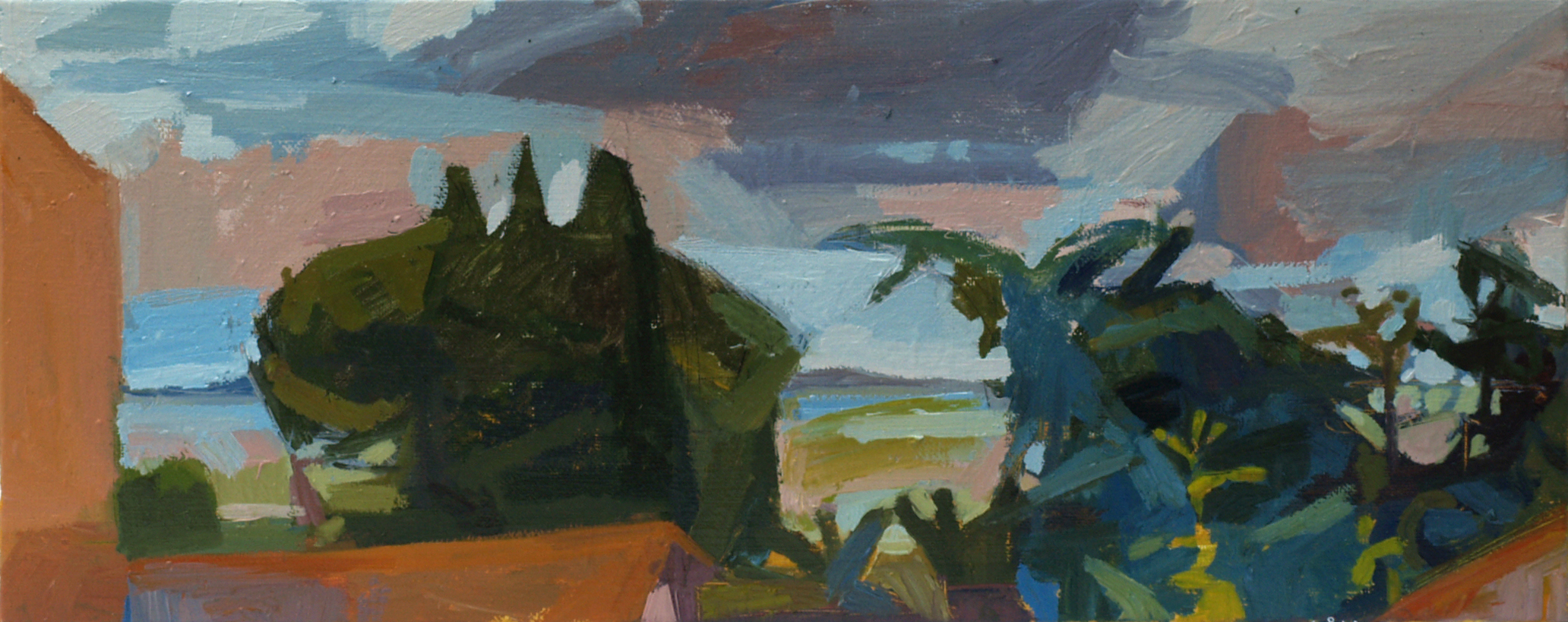 over the lake_Oil on Canvas_2014.JPG