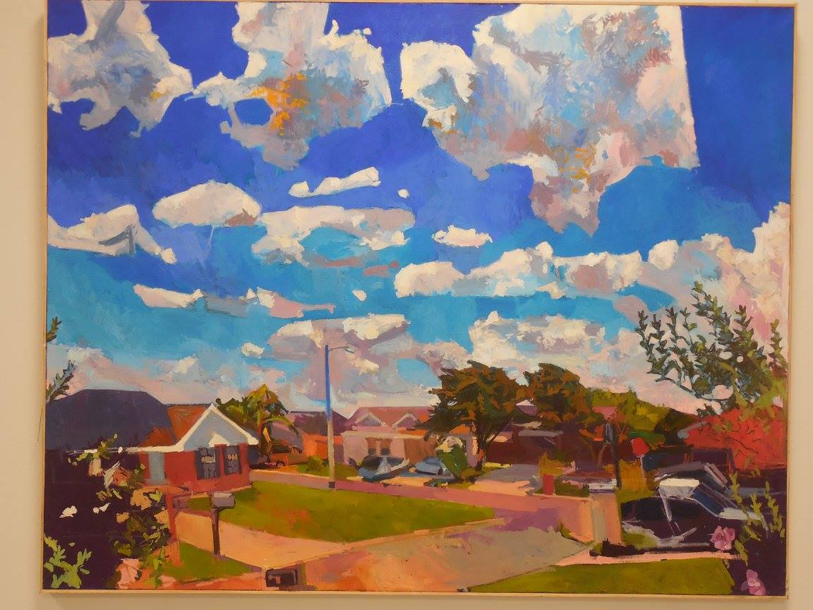 Corner with Sky, Oil on Lenin, 76x 60, 7