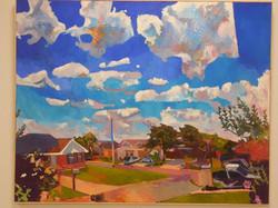 Corner with Sky, Oil on Lenin, 76x 60, 7