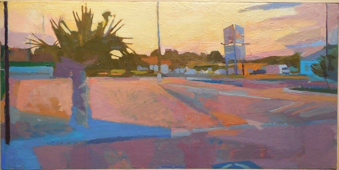 Dusk, Jerry Lyles, 29x14,Oil on Panel, 9