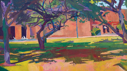 Lyles_Campus Chapel Yard_Oil on Canvas_2