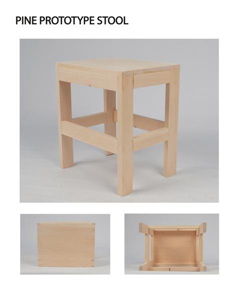 Pine Prototype Stool