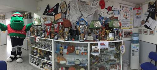 Sala de trofeos Piratas Soto Basket