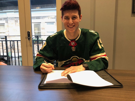 Hunter Jones signs NHL contract with Minnesota Wild