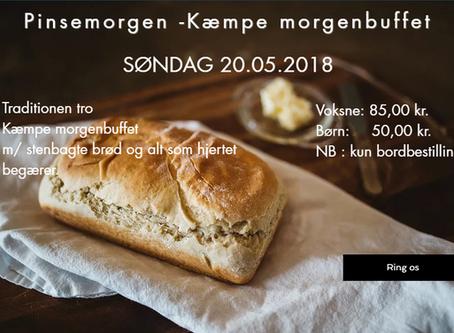 Pinsemorgen -                            Kæmpe morgenbuffet