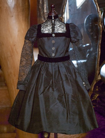 90cm作品用 ブラックドレス