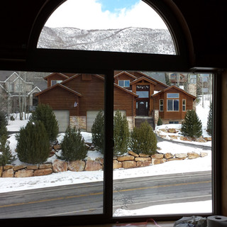 New replacment picture window.  Window replacment Utah. Windows Utah Valley.