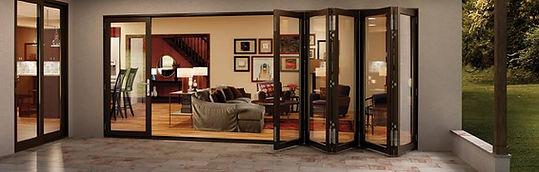 Bi-Fold glass wall systems.  Window replacment Utah. Windows Utah Valley.