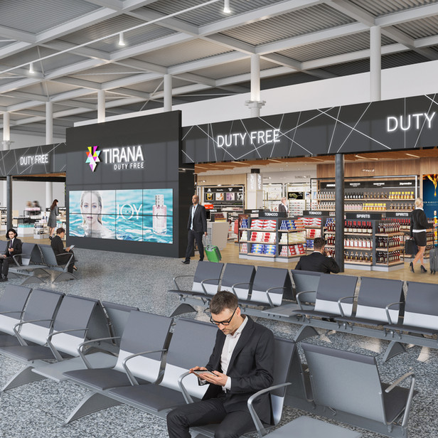 DUTY FREE SHOP IN TIRANA AIRPORT, ALBANIA