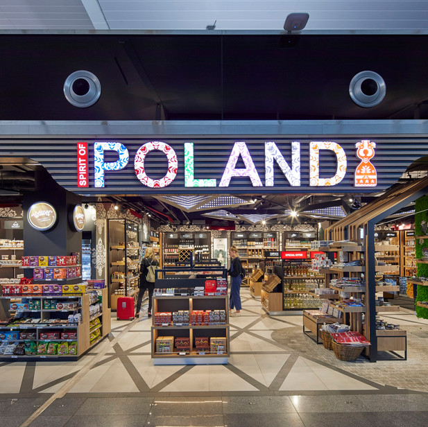 SPIRIT OF POLAND & ZOOM DUTY FREE SHOP IN WROCLAW AIRPORT, POLAND