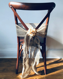 Oak French Cross Back Chairs