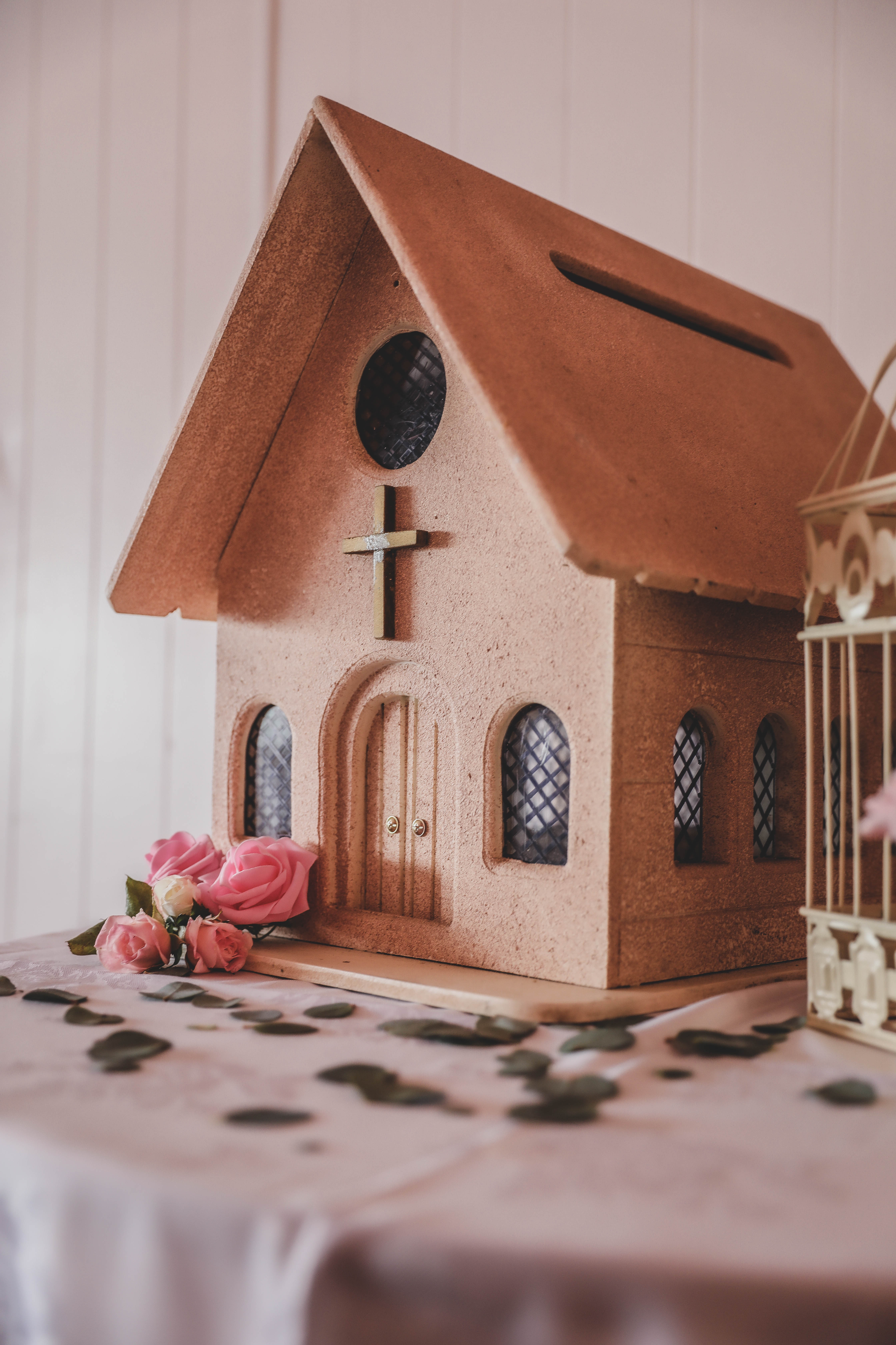 Wooden Church Card Box
