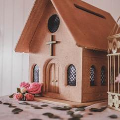 Wooden Church Card Box