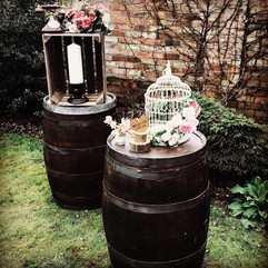 Vintage Whiskey Barrels