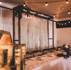 Boho Macrame Backdrop & Rustic Wooden Frame