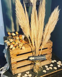 Pampas Grass & Rustic Crate