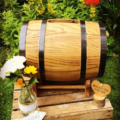 Rustic Barrel Card Box