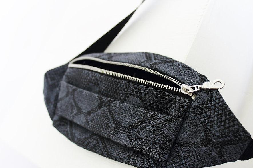 Printed Denim Belt Bag