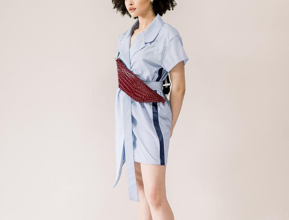 Striped Accent Shirt Dress