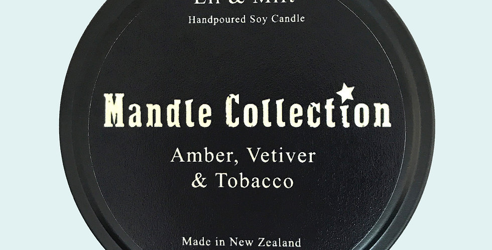 MANDLE Collection | Amber, Vetiver and Tobacco | Travel Tin