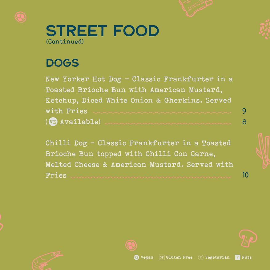 Bohemia - Street food menu - 2021 01 - I